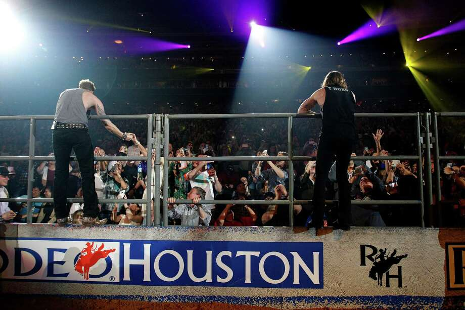 Members of the Florida Georgia Line perform during the Houston Livestock Show and Rodeo at NRG Stadium, Wednesday, March 18, 2015, in Houston. ( Karen Warren / Houston Chronicle  ) Photo: Karen Warren, Staff / © 2015 Houston Chronicle