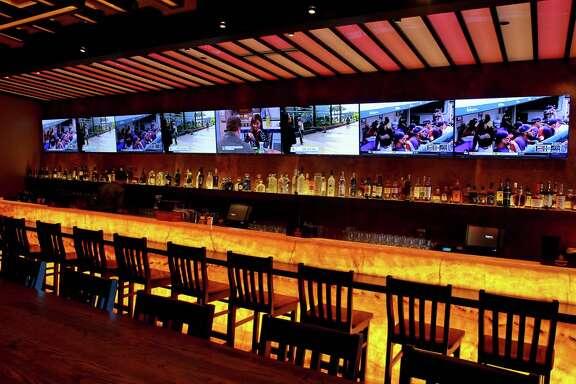 The bar of the South African restaurant, Peli Peli.