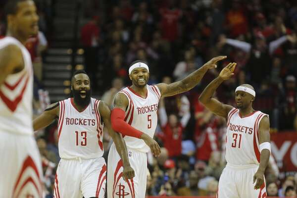 2014-15        Regular-season record:  56-26     Coach:   Kevin McHale     Leading scorer:   James Harden (27.3)     Playoff result:   TBD