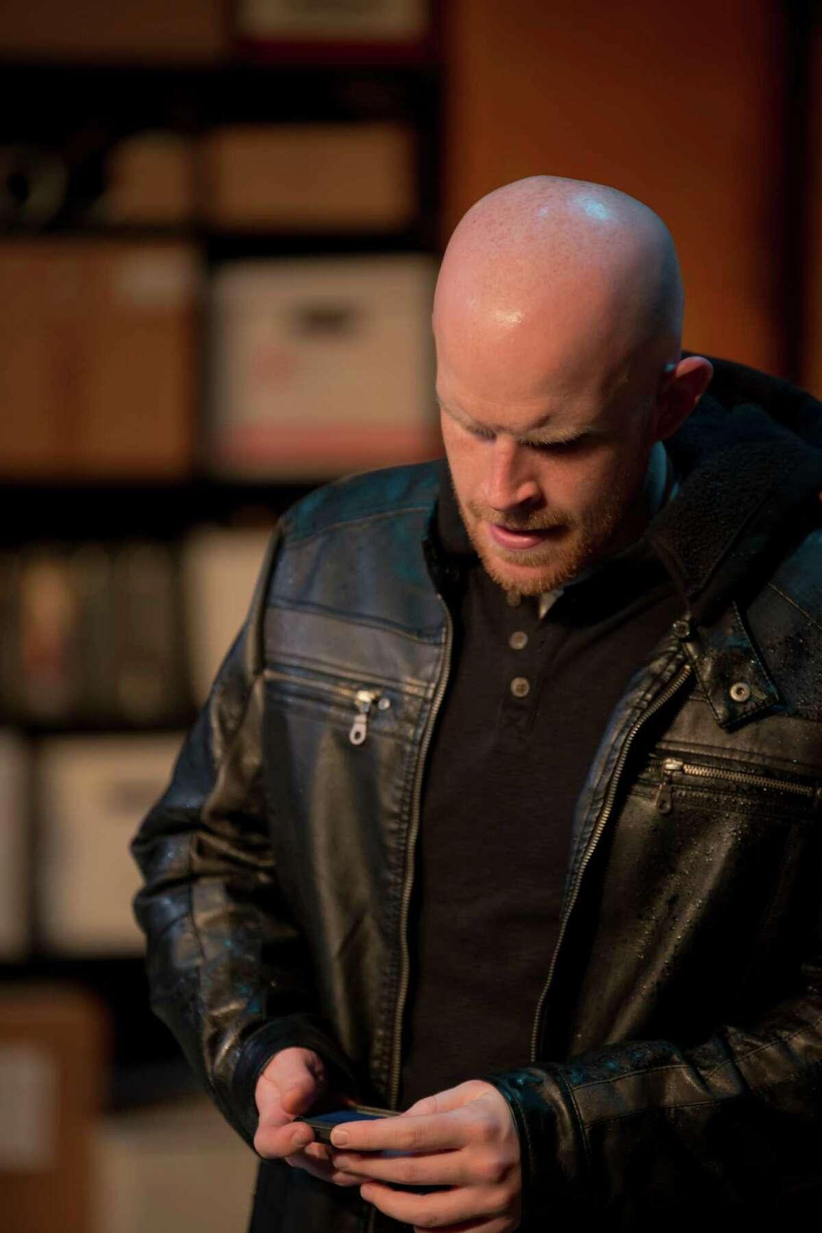 "Tyler Keyes stars in AtticRep's staging of ""The Irish Curse."""