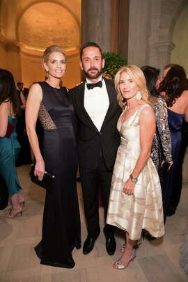 Vandy Boudreau, Damian Smith and Summer Tompkins Walker at the 2015 Mid-Winter Gala presented by Dior on March 27, 2015 at the Legion of Honor.