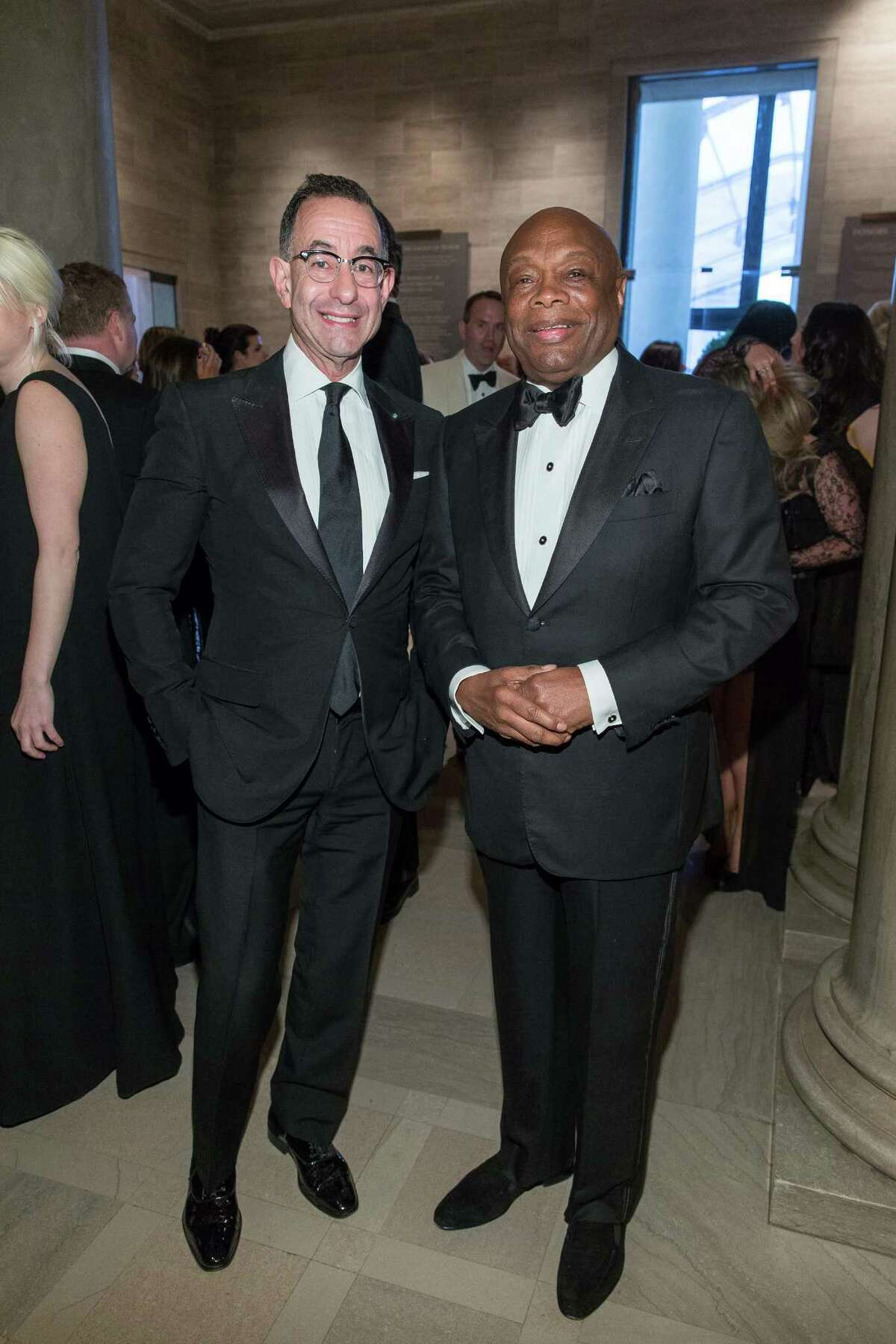 Colin Bailey and Willie Brown at the 2015 Mid-Winter Gala presented by Dior on March 27, 2015 at the Legion of Honor.