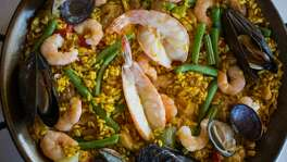 This is the Paella a La Valencia photographed at Zarzuela in San Francisco Calif., Wednesday March 25, 2015.