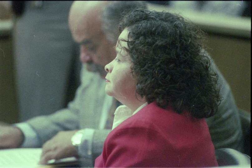Yolanda Saldivar in court on Dec. 21, 1995, to ask for a new trial of ...