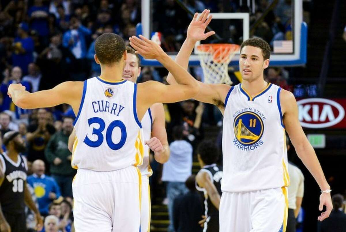 Golden State Warrior guards Stephen Curry (left) and Klay Thompson (right) got their nickname for their killer shooting abilities.