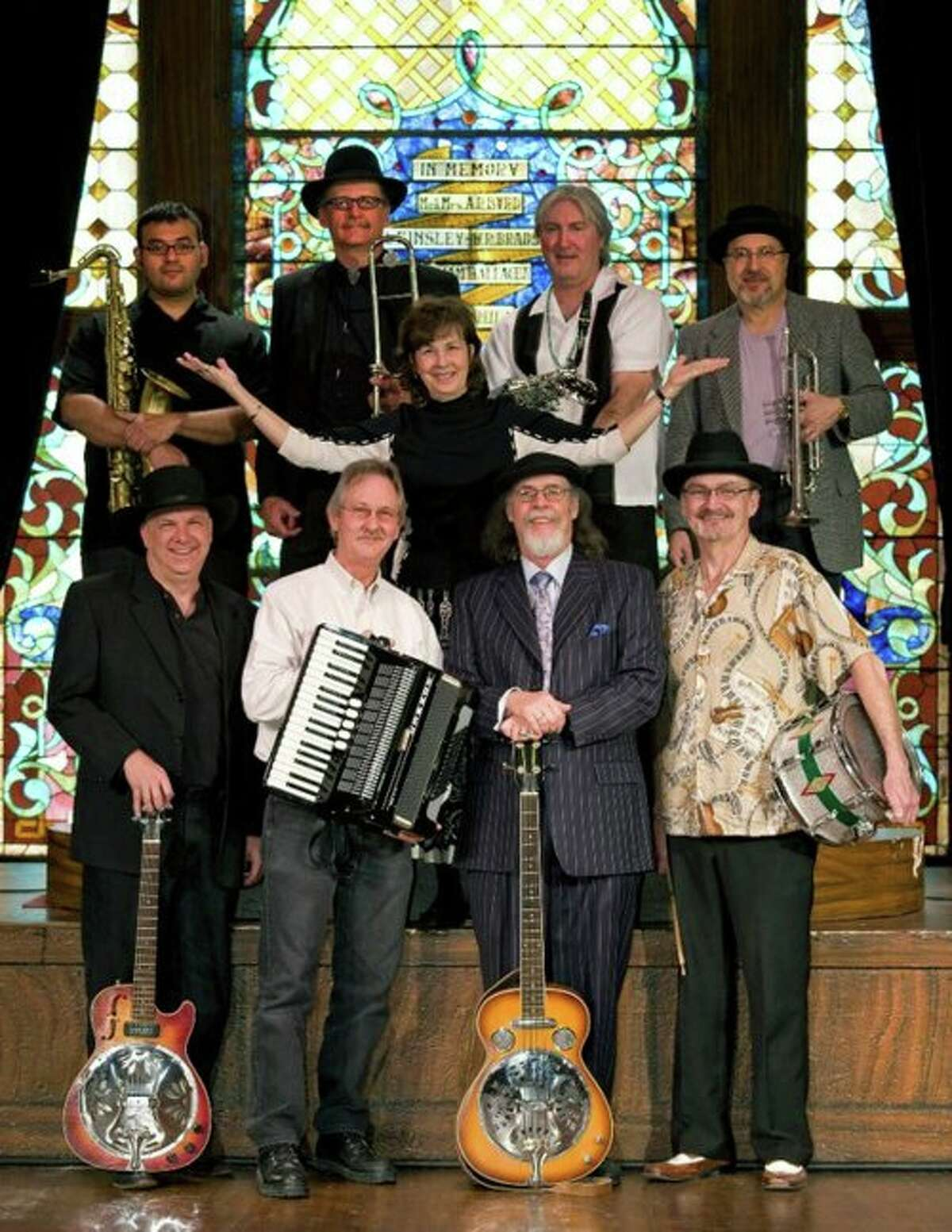 Miss Nessie, center, and the Ear Food Orchestra will perform at a gospel brunch at John T. Floore's Country Store in Helotes for Easter, April 5, 2015.