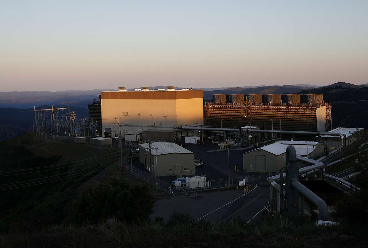 The Sonoma power plant converts steam into energy at the Geysers in Middletown, Calif., on Saturday, March 28, 2015.