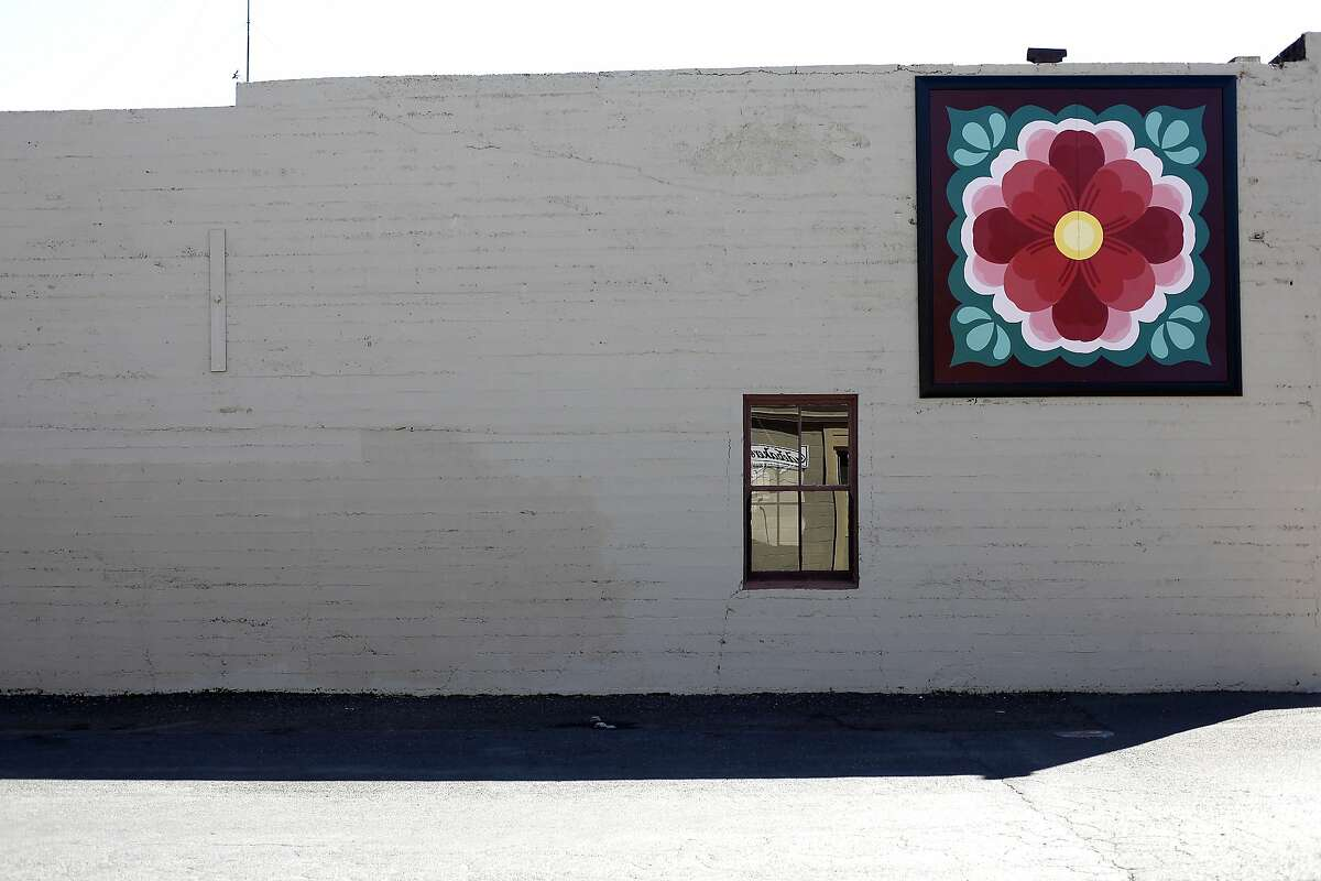 A quilt on a building downtown is part of the Quilt Trail in Kelseyville, Calif., on Saturday, March 28, 2015.