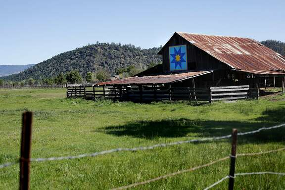 A quilt on a barn is part of the Quilt Trail in Big Valley, Calif., on Saturday, March 28, 2015.