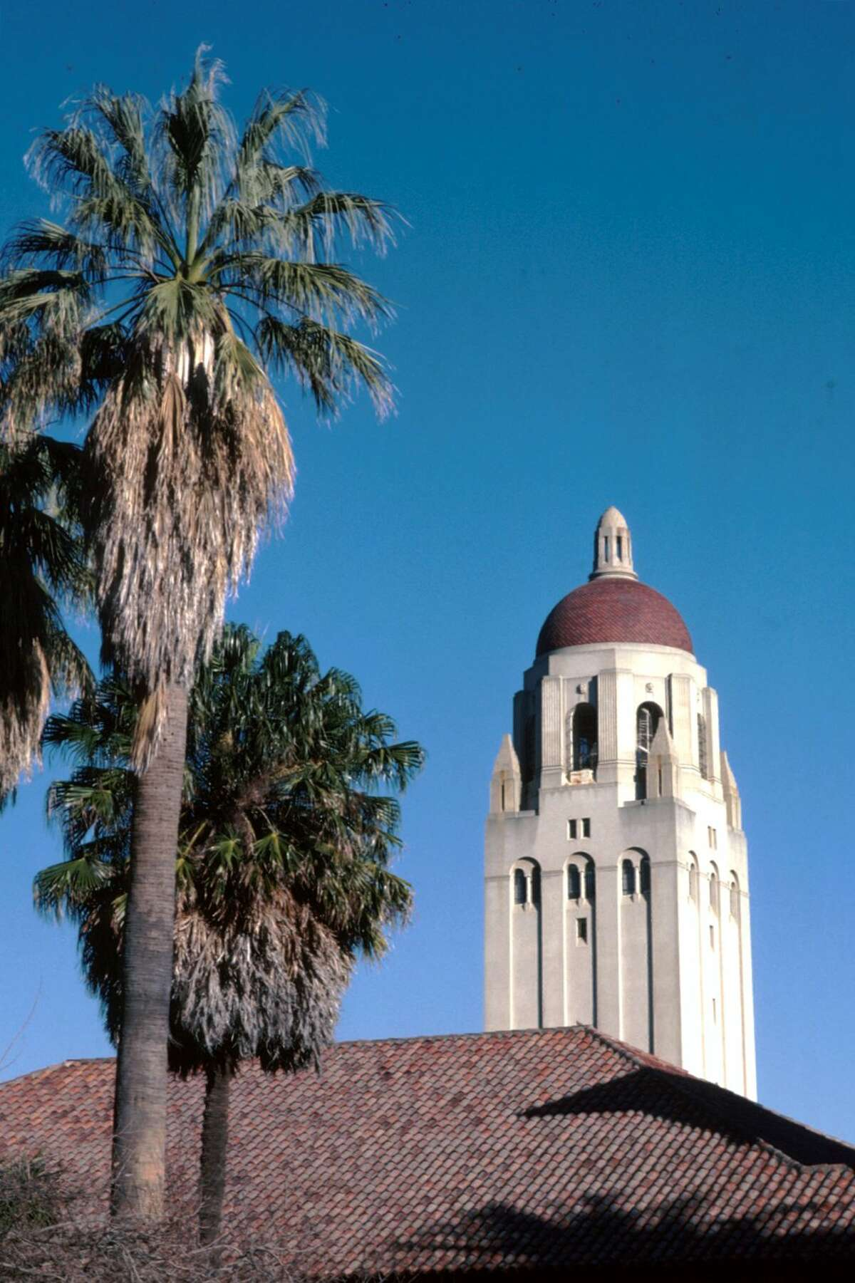 Hoover Tower on the Stanford University campus in Palo Alto, Calif.