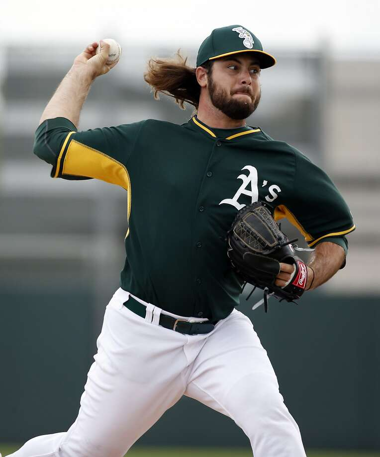 Oakland A' s R.J. Alvarez during intrasquad game at Spring Training at Fitch Park in Mesa, Arizona, on Saturday, February 28, 2015. Photo: Scott Strazzante, The Chronicle