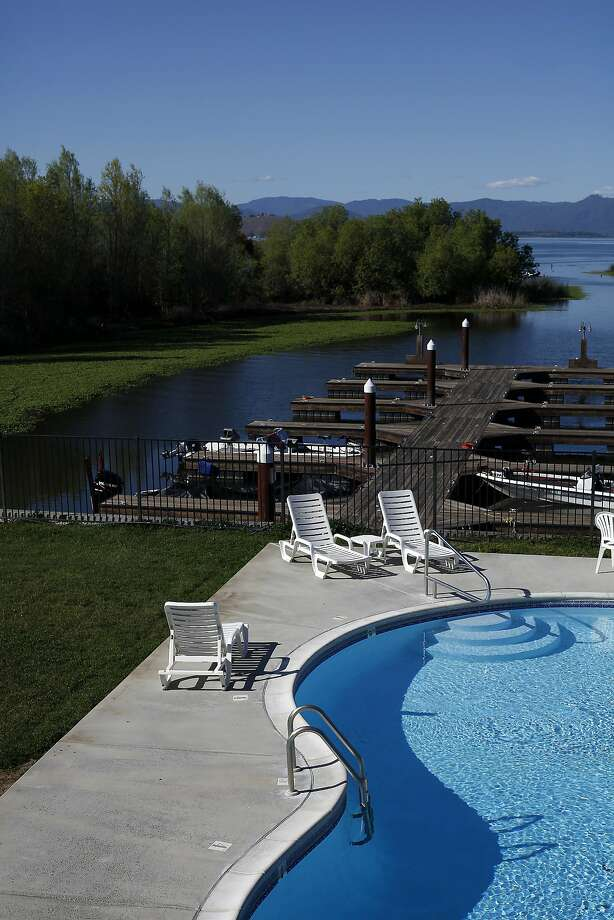 The pool at the hotel at the Konocti Vista hotel and casino overlooks their boat launch in Lakeport, Calif., on Saturday, March 28, 2015. Photo: Sarah Rice, Special To The Chronicle