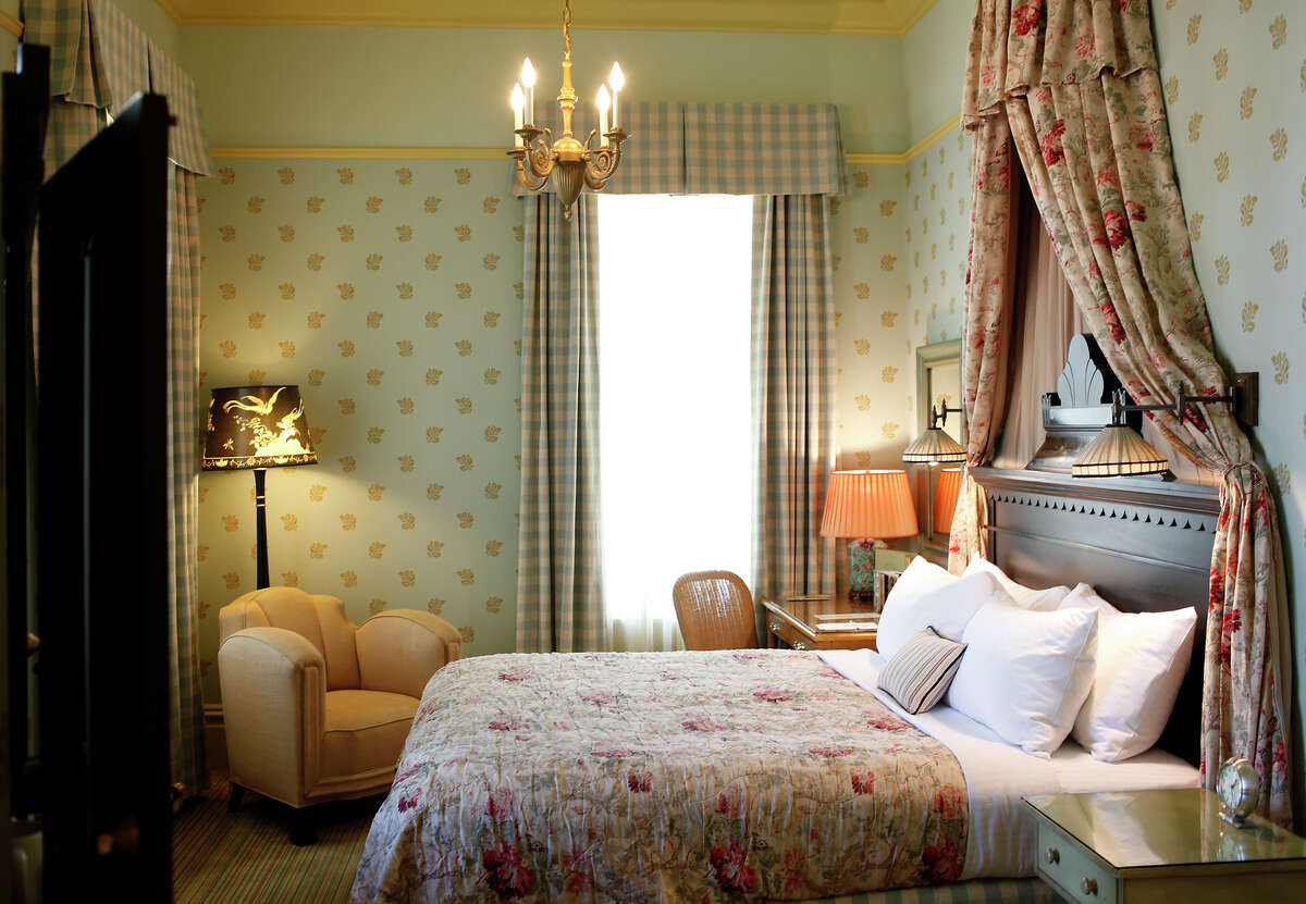 Eastlake-style guest rooms at the Tallman Hotel mix period-style elements with modern amenities.