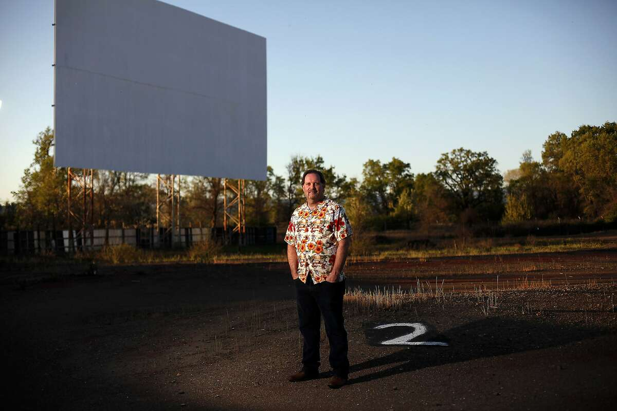 Scott Lotter, owner of the Lakeport Auto Movies drive-in theater in Lakeport, Calif., on Saturday, March 28, 2015.