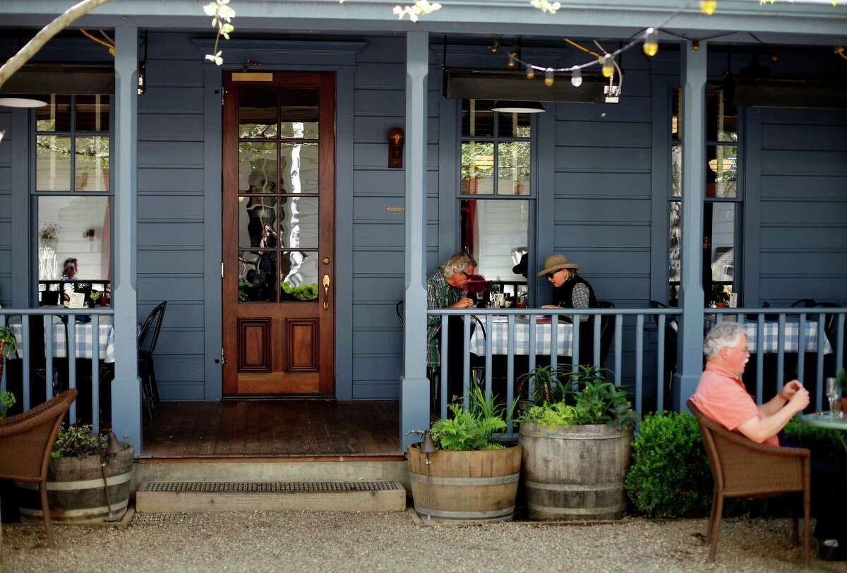 The Blue Wing Saloon in Upper Lake, rebuilt as part of the Tallman Hotel reconstruction, offers classic comfort food and an all-Lake County wine list.