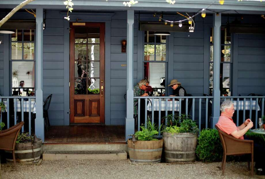 The Blue Wing Saloon in Upper Lake, rebuilt as part of the Tallman Hotel reconstruction, offers classic comfort food and an all-Lake County wine list. Photo: Sarah Rice / Sarah Rice / Special To The Chronicle / ONLINE_YES