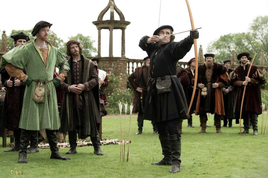 """Henry VIII (Damian Lewis, left) favors the maneuverings of Thomas Cromwell (Mark Rylance) in PBS' """"Wolf Hall."""" Photo: Giles Keyte/Playground & Company / Giles Keyte / Playground & Co. / ONLINE_YES"""