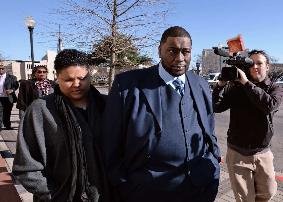 Indicted from the FBI's recent investigation into BISD, Devin McCraney, pictured, and former comptroller Sharika Allison, not pictured, plead innocent Thursday morning in Zack Hawthorn's federal courtroom. The trial is set for early next month. Photo taken Thursday,  Guiseppe Barranco/@spotnewsshooter Photo: Guiseppe Barranco, Photo Editor