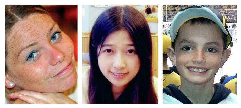 FILE - This combination of undated file photos shows, from left, Krystle Campbell, 29, Lu Lingzi, a Boston University graduate student from China, and Martin Richard, 8, all who were killed in the bombings near the finish line of the Boston Marathon on April 15, 2013, in Boston. Prosecutors rested their case Monday, March 30, 2015, against Boston Marathon bomber Dzhokhar Tsarnaev, after jurors in his federal death penalty trial saw gruesome autopsy photos and heard a medical examiner describe the devastating injuries suffered by the three people who died in the 2013 terror attack. (AP Photo/File) Photo: Uncredited, HONS / Family Photos