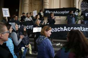 Hundreds march against S.F. archbishop's 'morality clauses' - Photo