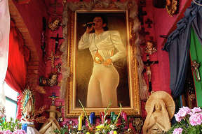 Ten years after her death people around San Antonio continue to keep the memory of Selena alive in a variety of forms with everything from graffiti on the side of buildings, to murals and shrines at Mi Tierra restaurant. Photo HELEN L. MONTOYA