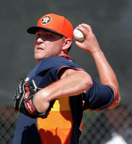 Righthander Will Harris, battling for the final spot in the Astros' bullpen, has a 2.45 ERA in nine games this spring. Photo: Karen Warren, Staff / © 2015 Houston Chronicle