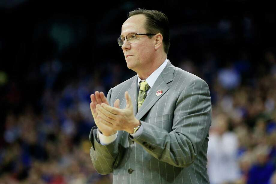 OMAHA, NE - MARCH 20:  Head coach Gregg Marshall of the Wichita State Shockers reacts on the sideline against the Indiana Hoosiers during the second round of the 2015 NCAA Men's Basketball Tournament at the CenturyLink Center on March 20, 2015 in Omaha, Nebraska.  (Photo by Jamie Squire/Getty Images) Photo: Jamie Squire, Staff / 2015 Getty Images