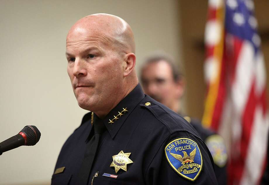 Police chief Greg Suhr comments about the guilty verdicts handed down in federal court against Sergeant Ian Furminger and officer Edmond Robles in San Francisco, Calif., on Friday, December 5, 2014. Photo: Liz Hafalia, The Chronicle