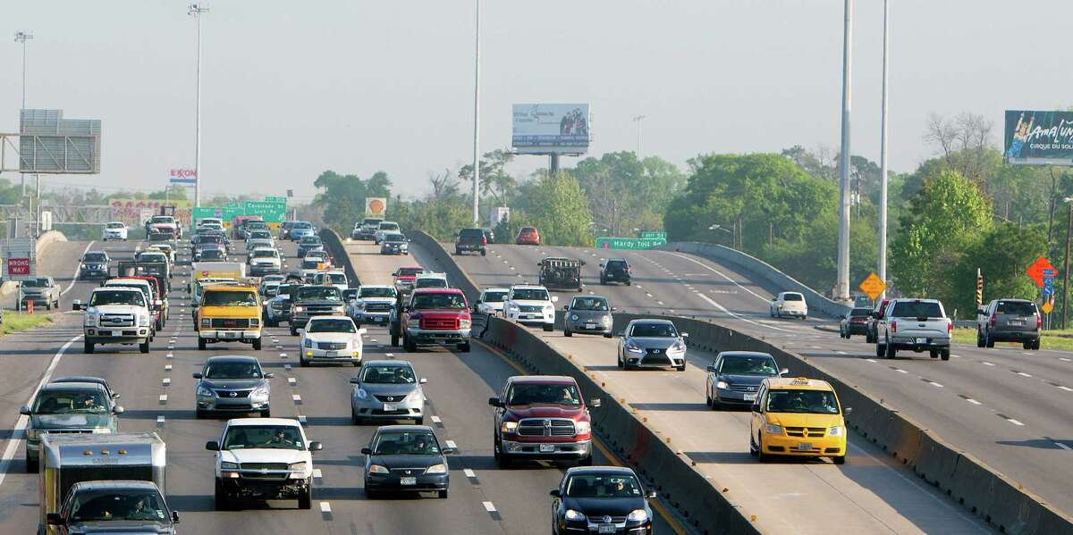 Drivers commute along I-45 on March 30 in Houston. Houston's congestion got 4 percent worse in 2014, compared with 2013, according to a report released by TomTom, the global traffic and mapping company. The company's fifth annual traffic index placed Houston outside the 10 worst commutes in the U.S., but still paints a grim picture for drivers. See how transit access in these Texas areas rank, according to the Center for Neighborhood Technology.
