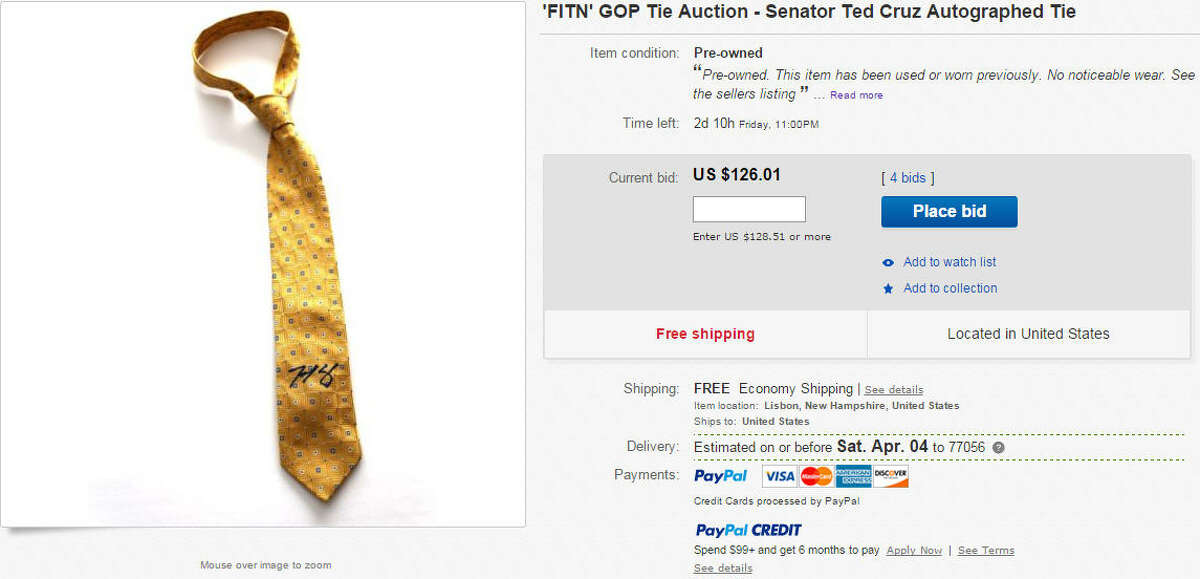 Signed Ted Cruz tie, worn by the senator Price: $126.01 Buy it now