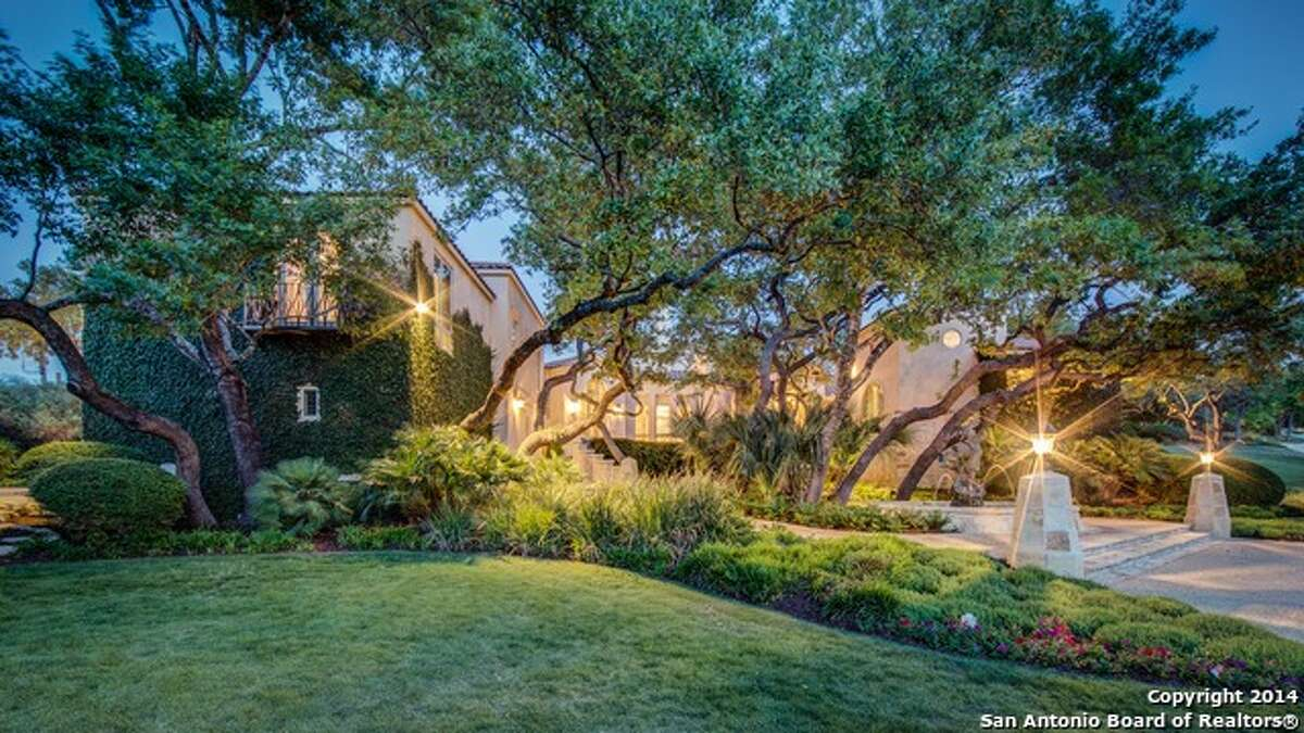 14 Duxbury Park, San Antonio, Texas 78257 Listed at a whopping $12 million, this 27,417-square-foot home includes two houses and a state-of-the-art gymnasium. The main house has 5 bedrooms and 6.5 bathrooms, while the guest house has 1 bedroom and 2 bathrooms. Even the gym has 3.5 bathrooms. Other features include two kitchens, a game room, a media room, an elevator, pools, spas and a racquetball court. MLS - 1079233