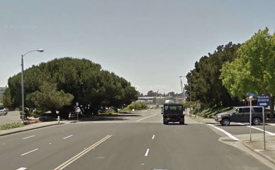 A pedestrian was stuck and killed on Curtola Parkway near Marin Street in Vallejo. Photo: Google Maps