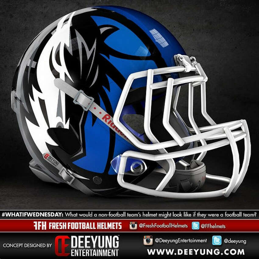 Dallas Mavericks concept football helmet design by Dylan Young of Deeyung Entertainment.