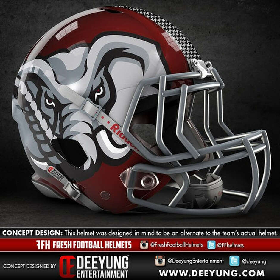 Alabama Crimson Tide alternative football helmet