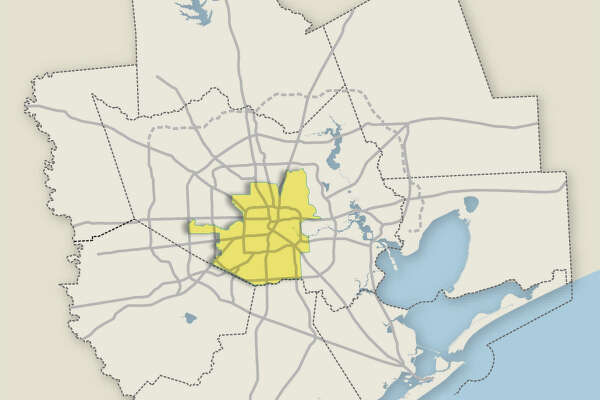 The boundary for Houston ISD is pictured.