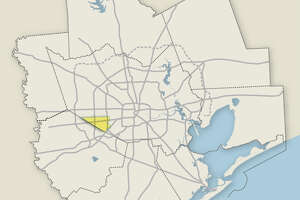 The boundary for Alief ISD is pictured.