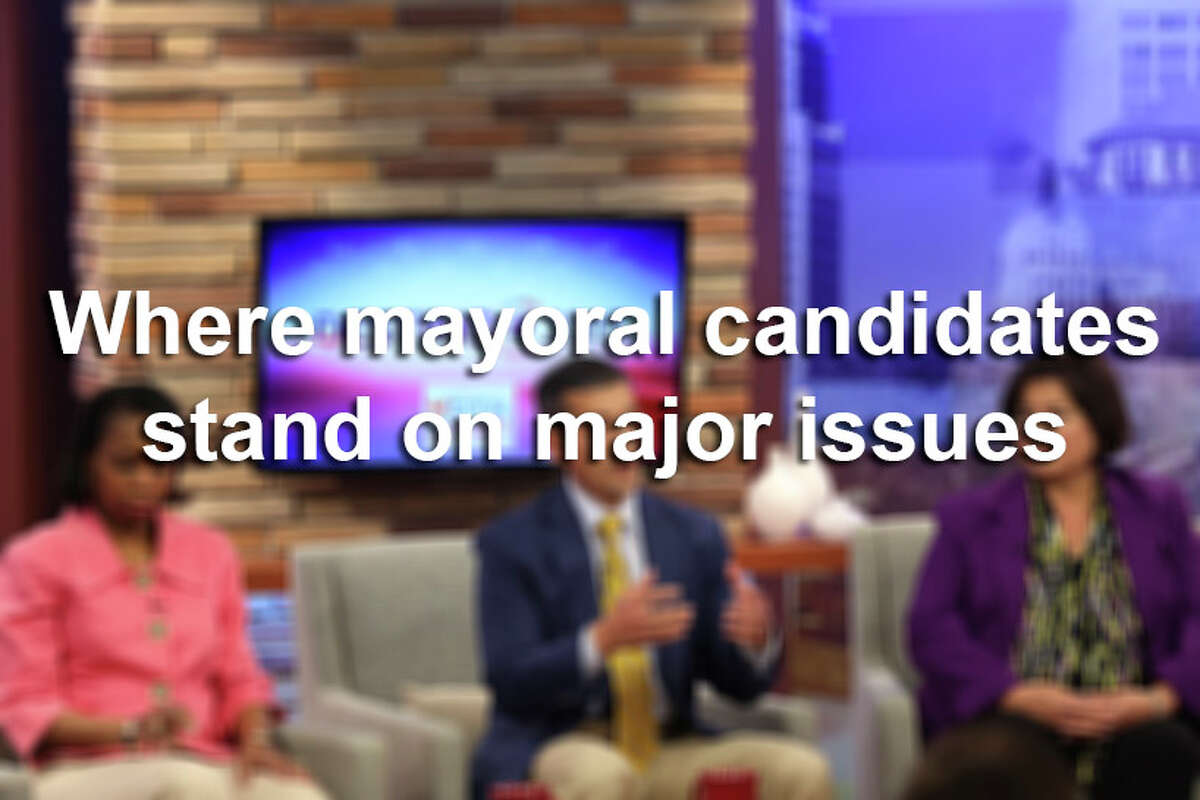 Click through the gallery to see where San Antonio mayoral candidates stand on major issues.