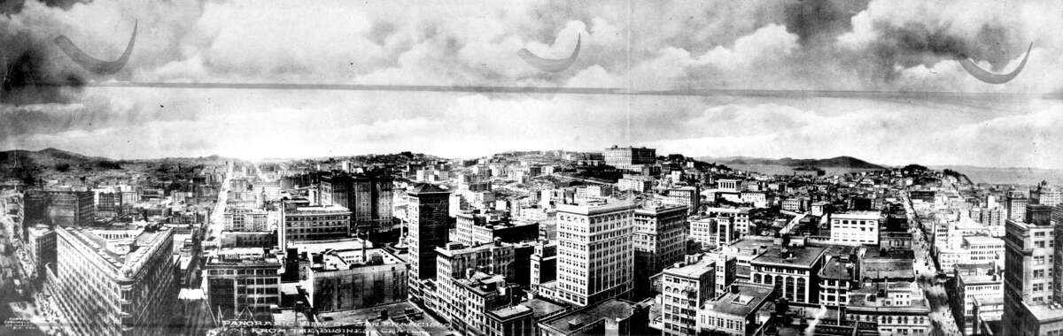 The view of the San Francisco skyline in 1910, when the city was still rebuilding after the earthquake and long before people worried about Manhattanization.