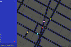 Google Maps turns into Pac-Man's chomping grounds - Photo