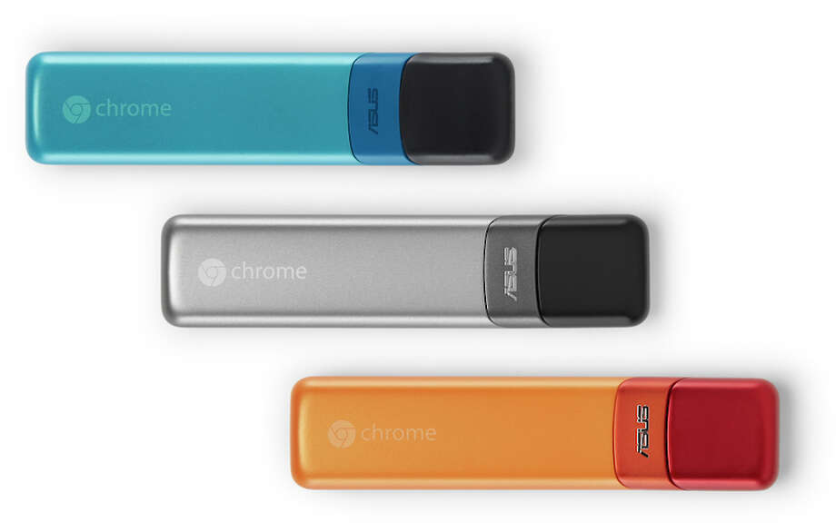 The Asus Chromebit is a computer that fits in your hand. It will sell sometime this summer for less than $100. Photo: Asus / ONLINE_YES