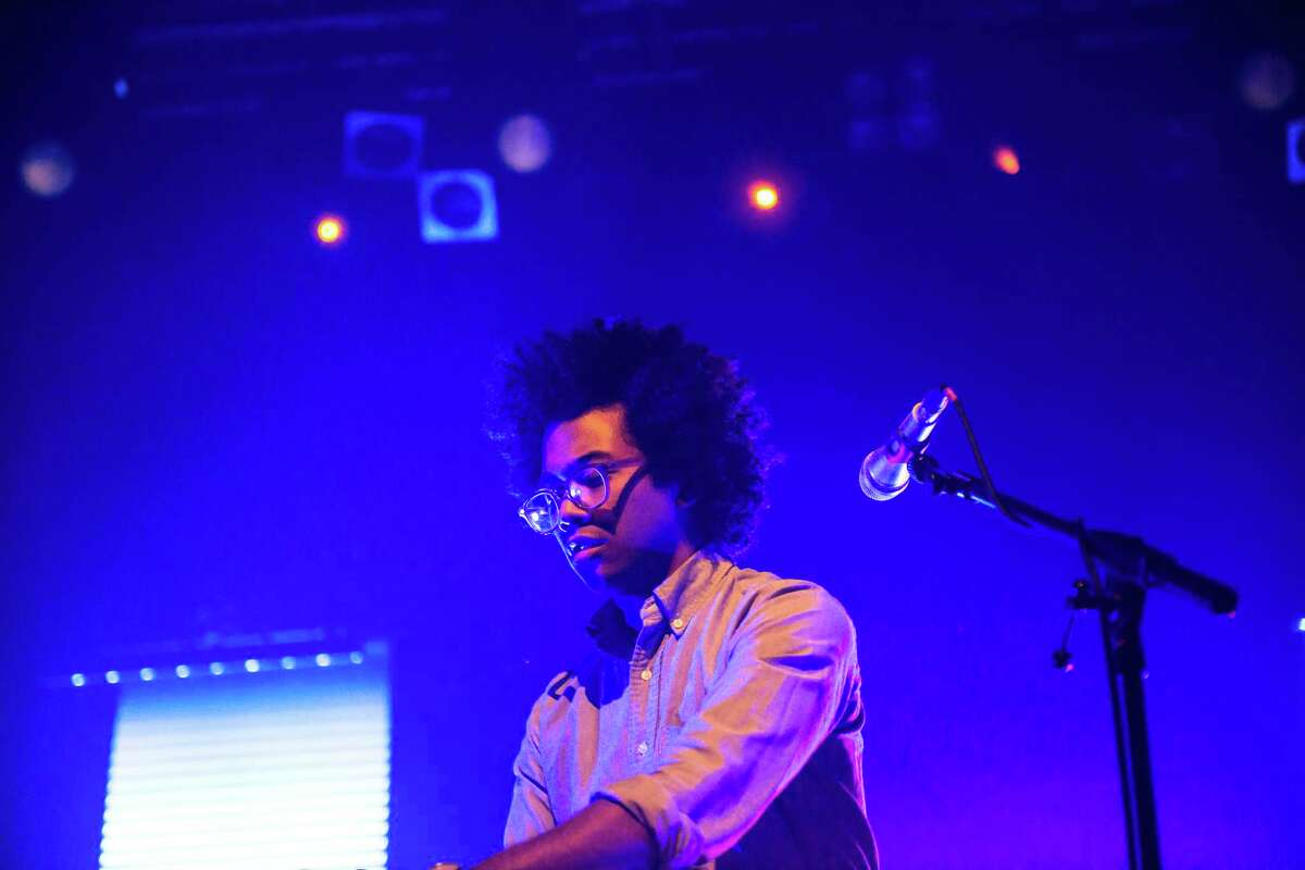 Chaz Bundick, then performing as Toro Y Moi, on stage at KOKO on June 4, 2013 in London, England.