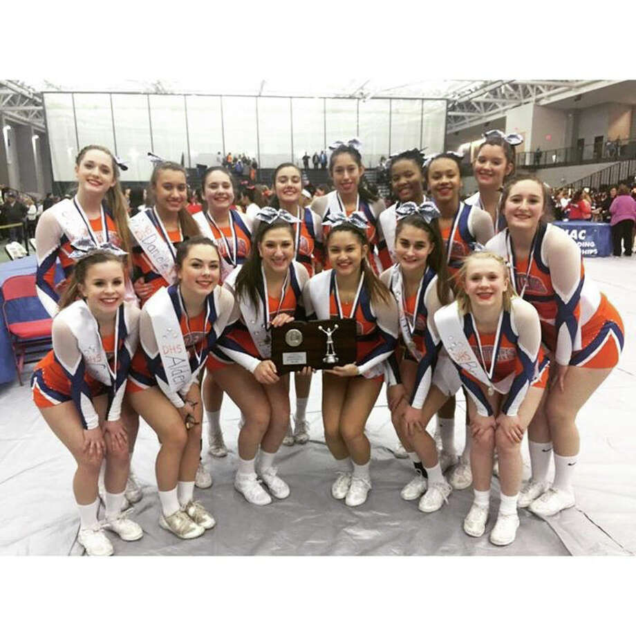 The Danbury High School varsity cheerleaders took 2nd place at the CIAC Class LL Championships held on Saturday March 7th at the Floyd Little Fieldhouse in New Haven. Photo: Contributed Photo / The News-Times Contributed