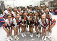 The Danbury High School varsity cheerleaders took 2nd place at the CIAC Class LL Championships held on Saturday March 7th at the Floyd Little Fieldhouse in New Haven.