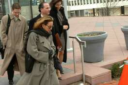FILE-- Debrah Lee Charatan, Robert Durst's wife, leaving court in White Plains, N.Y. Feb. 6, 2006. Though Charatan continues to invest DurstâÄôs money in real estate and she supported him once before when he was accused of murder, she has put distance between herself and Durst in recent years. (Alan Zale/The New York Times)