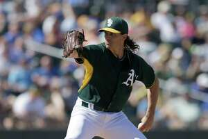 Barry Zito rocked in final spring start for A's - Photo