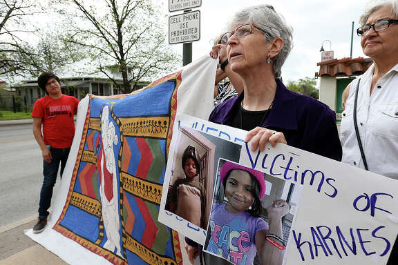 Demonstrators rallied Tuesday at the San Antonio Mennonite Church where they announced that 80 immigrant women held at the Karnes County Residential Center while their court cases are pending went on a Holy Week fast to protest their long detention and conditions at the center.