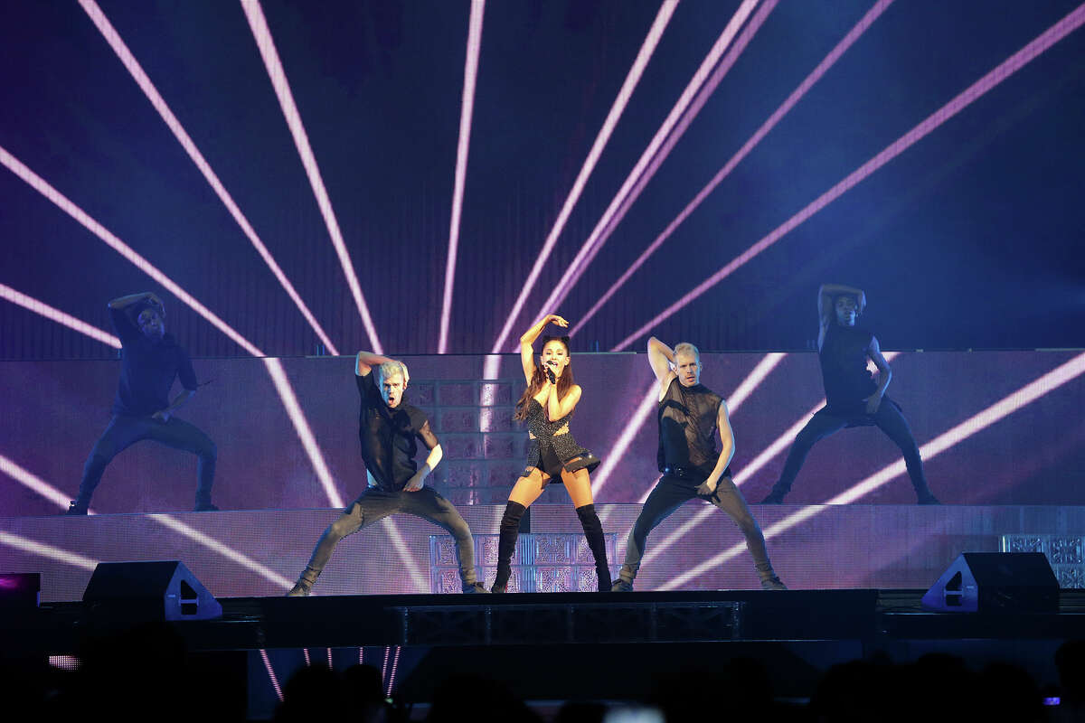Ariana Grande performs at the AT&T Center in San Antonio on March 31, 2015.