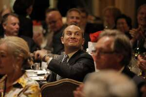 Evan Marwell, CEO of Education Superhighway, listens as he is chosen as the Visionary of the Year at the San Francisco Chronicle's ceremony for the Visionary of the Year Award at the Fairmont Hotel  in San Francisco , Calif., on Tuesday, March 31, 2015.