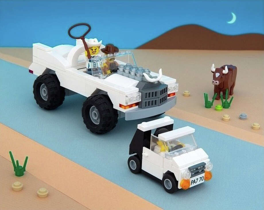 We know we're so much more than a bunch of ranchers driving gas guzzlers, but this Lego diorama does capture a few perceptions of the state of Texas. Photo: Jeff Friesen, The Brick Fantastic
