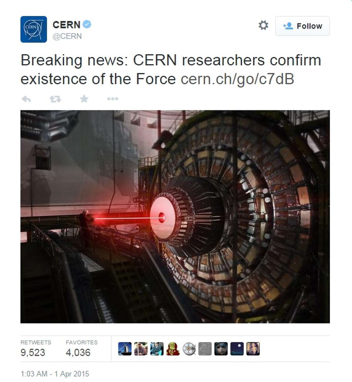 CERN, the European Research for Nuclear Research, tweeted that it discovered